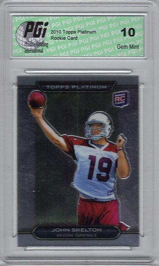 John Skelton 2010 Topps Platinum #138 Cardinals Rookie Card PGI 10