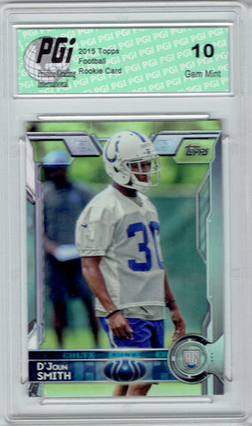 D'Joun Smith 2015 Topps Football #412 Indianapolis Colts Rookie Card PGI 10