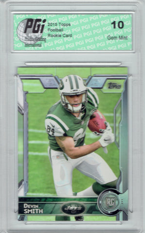 Devin Smith 2015 Topps Football #406  New York Jets Rookie Card PGI 10