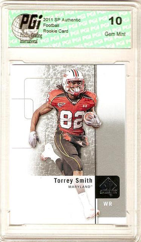 Torrey Smith 2011 SP Authentic Upper Deck Rookie Card PGI 10
