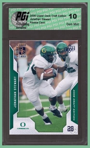 Jonathan Stewart Upper Deck Draft Ed Rookie Card PGI 10