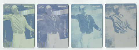 Fernando Tatis Jr. 2018 Leaf HYPE! 4) 1 of 1 Rookie Card Printing Plate Lot