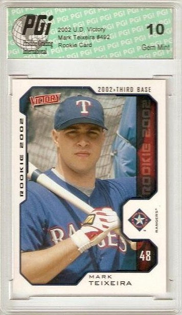 Mark Teixeira '02 Upper Deck Victory Rookie Card PGI 10