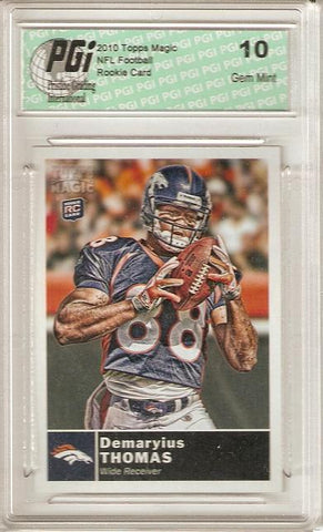 Demaryius Thomas 2010 Topps Magic #199 Broncos Rookie Card PGI 10