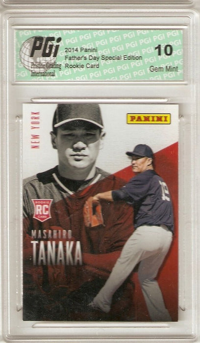Masahiro Tanaka 2014 Panini Father's Day #R19 Yankees Rookie Card PGI 10