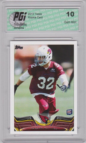 2013 Topps Football #211 Tyrann Mathieu RC LSU Cardinals Rookie Card PGI 10