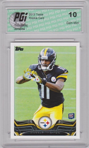 2013 Topps Football #288 Markus Wheaton RC Steelers Rookie Card PGI 10