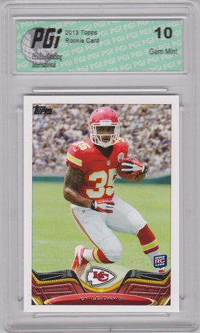 2013 Topps Football #322 Knile Davis RC Chiefs Rookie Card PGI 10