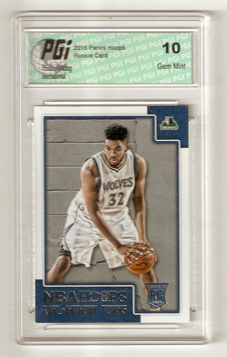 Karl-Anthony Towns 2015 Panini Hoops #289 Rookie Card PGI 10 Wolves