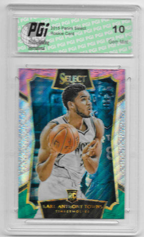 Karl-Anthony Towns 2015 Panini Select Tri Color Refractor #16 Rookie Card