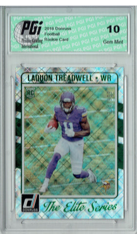 Laquon Treadwell 2016 Donruss Elite Series #11 SP, 999 Made Rookie Card PGI 10