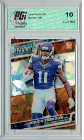 Laquon Treadwell 2016 Panini Cracked Ice #41 SP, 25 Made Rookie Card PGI 10