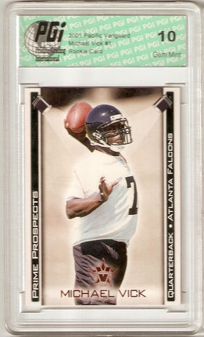 Michael Vick 2001 Pacific Vanguard Rookie Card PGI 10
