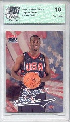 2003-04 Dwyane Wade Fleer Olympic Rookie Card PGI 10!