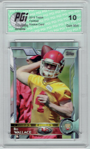 Bo Wallace 2015 Topps Football #437 Kansas City Chiefs Rookie Card PGI 10