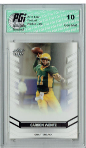 Carson Wentz 2016 Leaf Draft #02 Rookie Card PGI 10