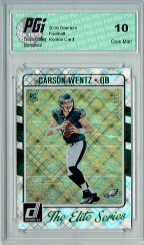 Carson Wentz 2016 Donruss The Elite Series #2 Only 999 Made Rookie Card PGI 10