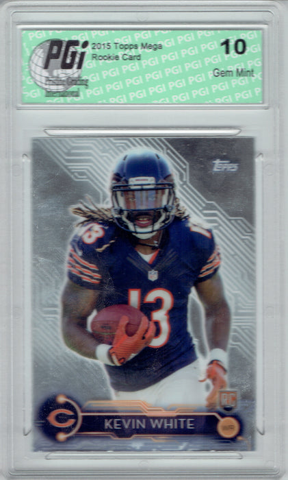Kevin White 2015 Topps Mega Chrome #5 Rookie Card PGI 10 Bears