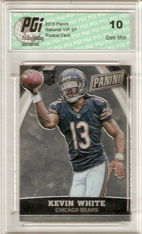 Kevin White 2015 Panini National VIP SP Rookie Card #37 PGI 10