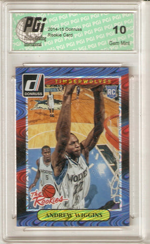 2014 Donruss Rated Rookies Rookie Card Swirlorama SP #1 Andrew Wiggins