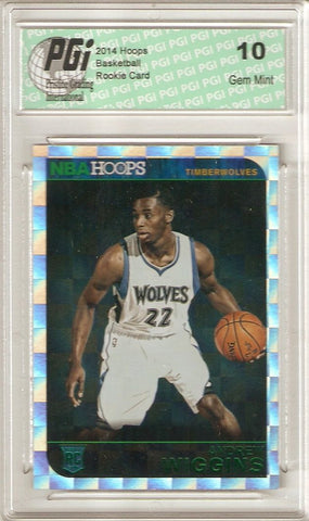 2014 Panini Hoops #261 Andrew Wiggins Green Prism Foil SP Rookie Card PGI 10