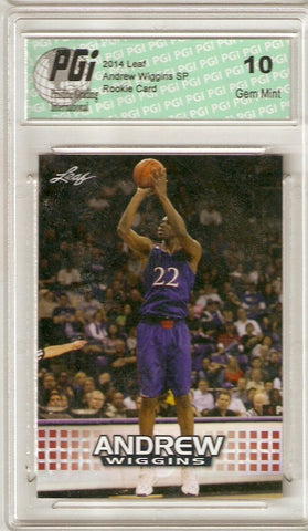 Andrew Wiggins 2014 Leaf Limited Edition AW-01 Rookie Card PGI 10