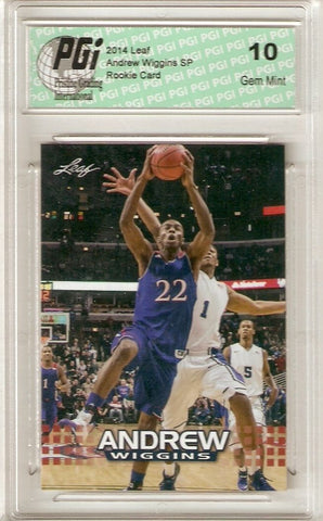 Andrew Wiggins 2014 Leaf Limited Edition AW-04 Rookie Card PGI 10