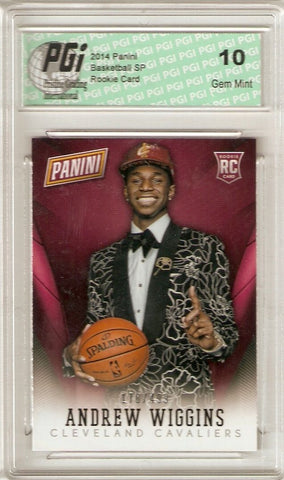 Andrew Wiggins 2014 Panini National Convention Only 499 Made Rookie Card PGI 10