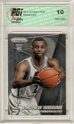2014-15 Panini Prizm #251 Andrew Wiggins Chrome NBA Rookie Card PGI 10