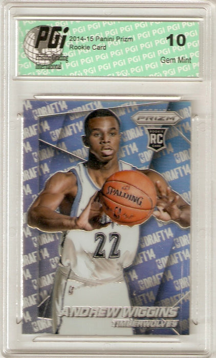2014 Panini Prizm Rookie Card Photo Variation Refractor #31 Andrew Wiggins