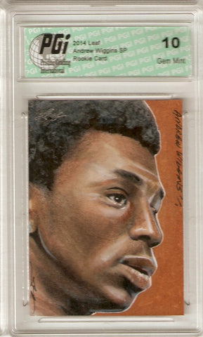Andrew Wiggins 2014 Leaf True 1 of 1 Art Card Rare Rookie Card PGI 10