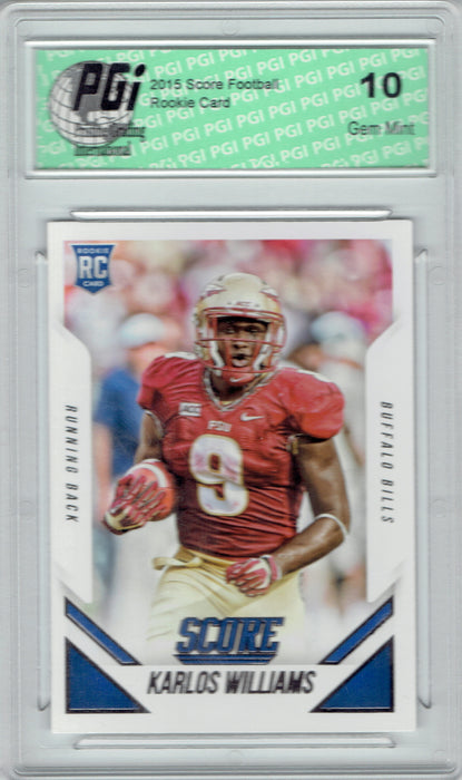 Karlos Williams 2015 Score Football #389 Rookie Card PGI 10