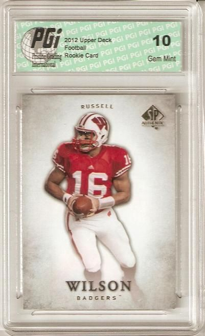 Russell Wilson 2012 Upper Deck SP Authentic #87 Rookie Card PGI 10