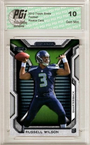 Russell Wilson 2012 Topps Strata RC Hobby Rookie Card PGI 10