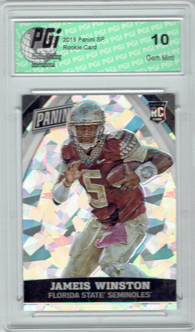 Jameis Winston 2015 National VIP #82 Cracked Ice Rookie Card 25 Made