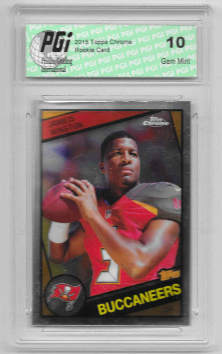 Jameis Winston 2015 Topps Chrome 1984 Throwback Rookie Card #T60-JW1 PGI 10