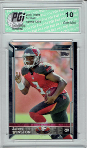 Jameis Winston 2015 Topps Football Factory SP #500 Rookie Card PGI 10