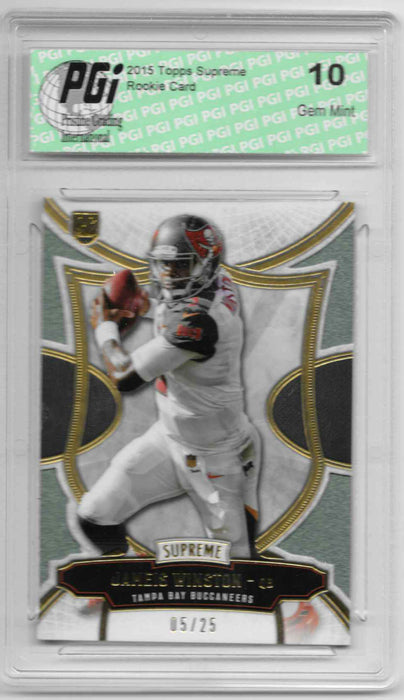 Jameis Winston 2015 Topps Supreme Emerald Rookie Card #75 25 Made