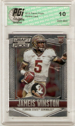 2015 Panini Prizm Draft Picks Rookie Card #122 Jameis Winston PGI 10