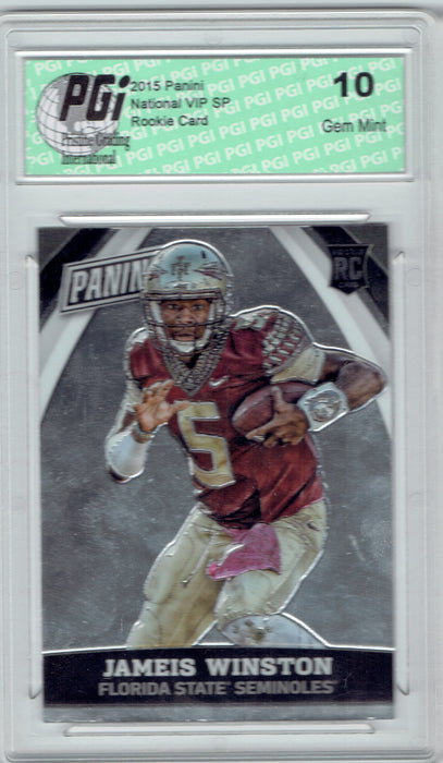 Jameis Winston 2015 Panini National VIP SP Rookie Card #82 PGI 10