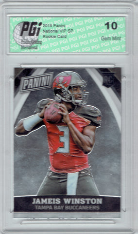 Jameis Winston 2015 Panini National VIP SP Rookie Card #35 PGI 10