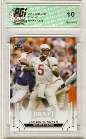2015 Leaf Draft Rookie Card #84 Jameis Winston PGI 10