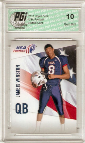Jameis Winston 2012 Upper Deck Usa Football #26 Very 1st Rookie Card PGI 10