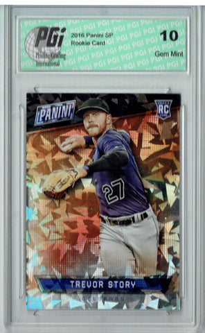 Trevor Story 2016 Panini Cracked Ice #66 Only 25 Made Rookie Card PGI 10
