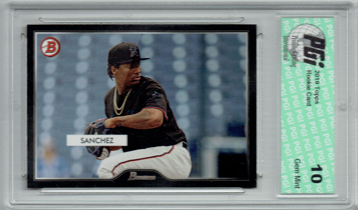 Sixto Sanchez 2019 Topps #30 55 Bowman SP 2500 Made Rookie Card PGI 10