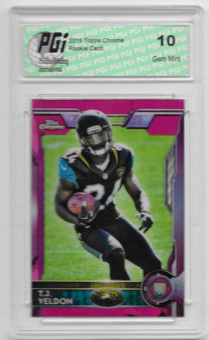 T.J. Yeldon 2015 Topps Chrome Pink Refractor Rookie Card Only 399 Made PGI 10