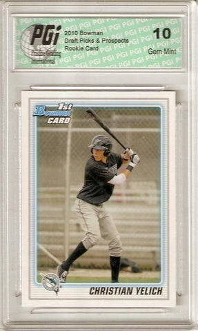 Christian Yelich Marlins 2010 Bowman #BDPP78 Rookie Card PGI 10