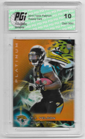 T.J. Yeldon 2015 Topps Platinum Orange Refractor Rookie Card #121 PGI 10
