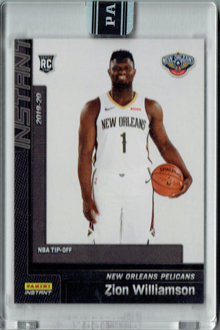 Zion Williamson 2019 Panini Instant #13 NBA Tip Off 1/1 Rookie Card One of One