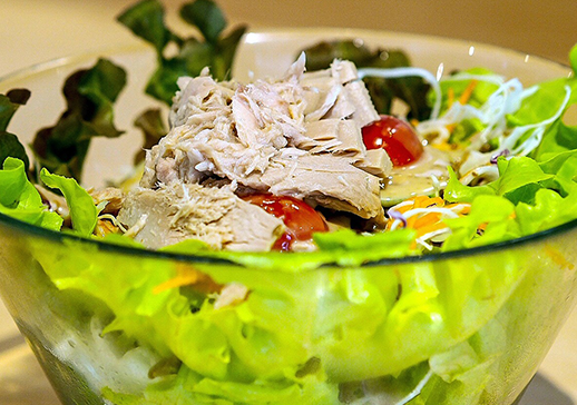 Mayo-Free Tuna Salad with Balsamic Vinegar & Olive Oil